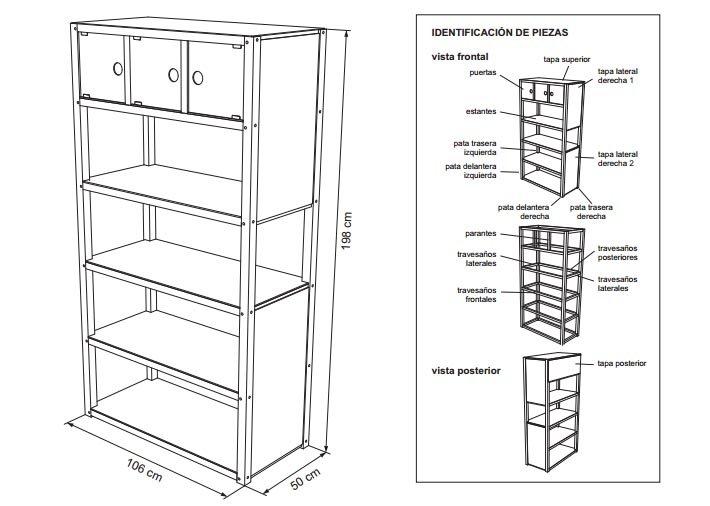 Planos para construir muebles de madera - Planos de muebles de cocina ...
