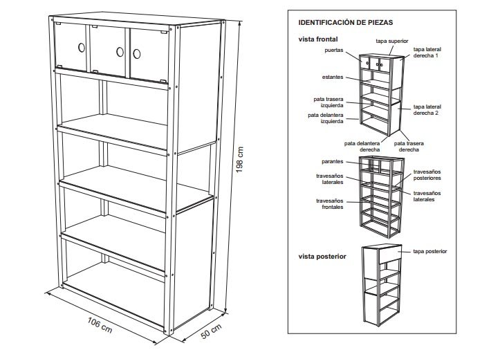 Planos para construir muebles de madera for Manual para armar un mueble