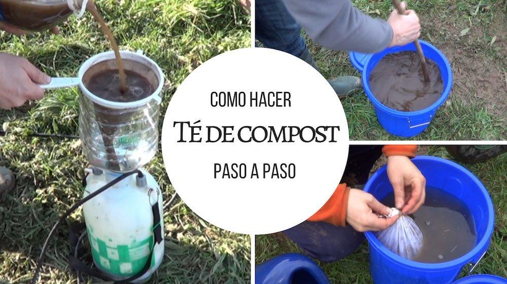 Como hacer Té de compost