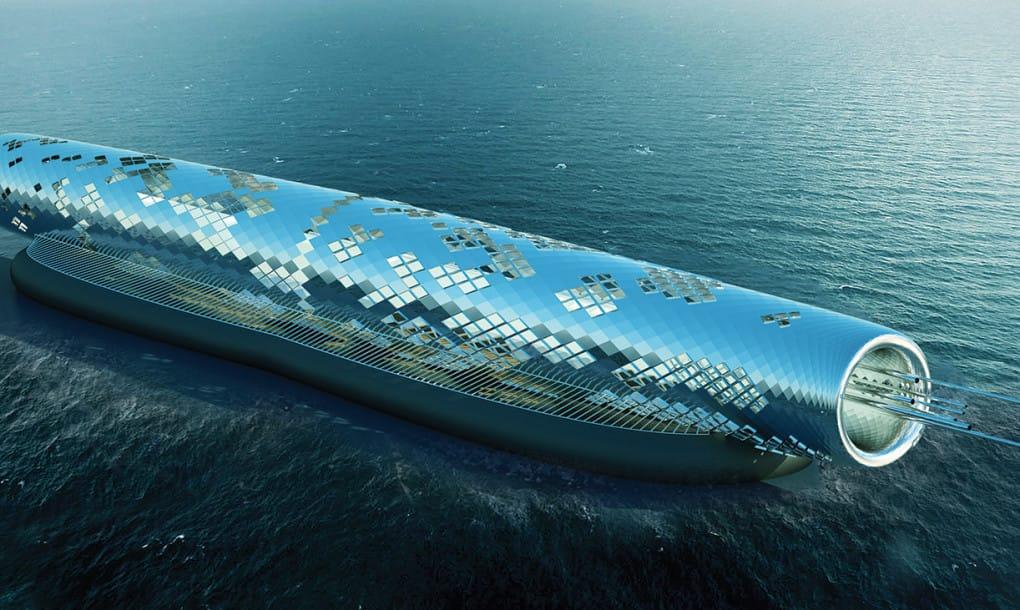 tubería para desalinizar agua con energía solar