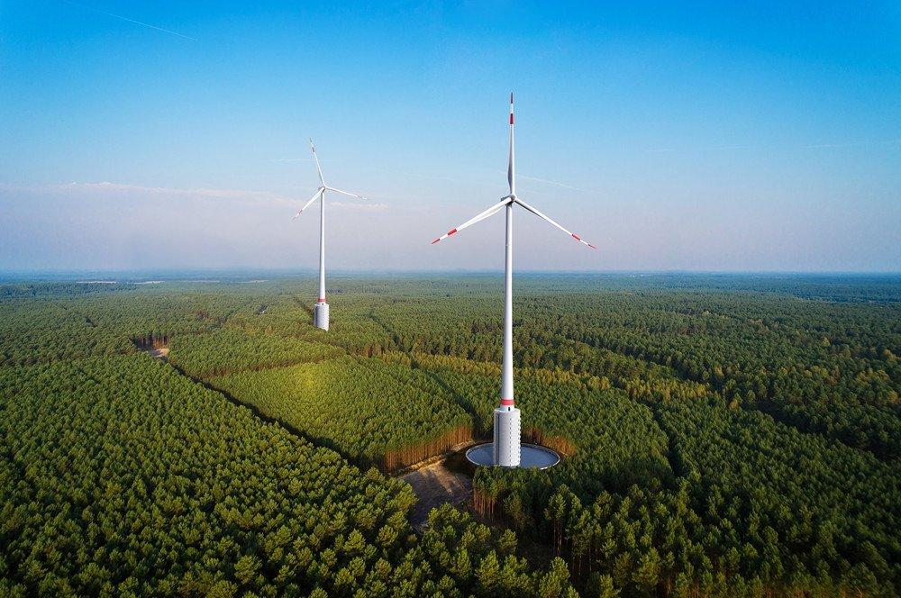 Turbina híbrida eólica - hidráulica
