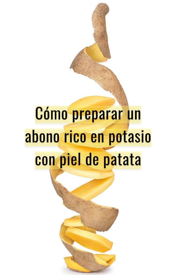 Cómo preparar un abono rico en potasio con piel de patata