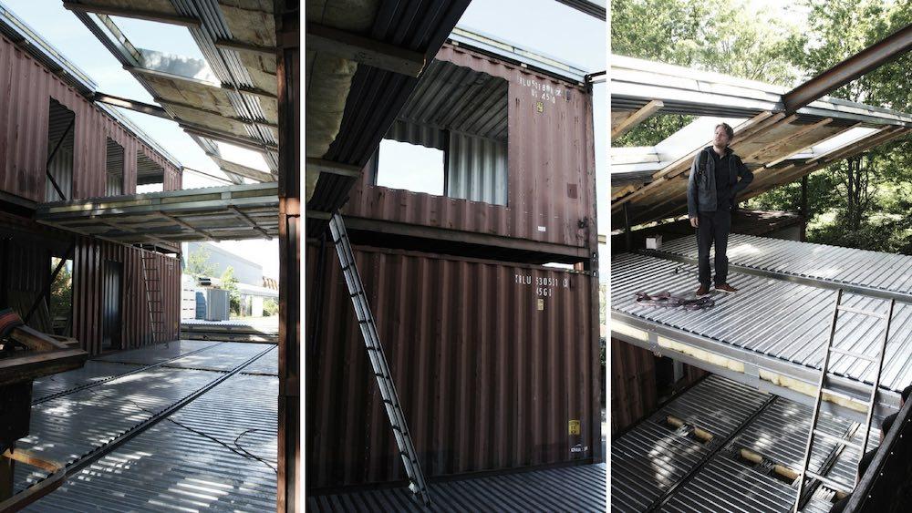 Una increíble casa hecha con contenedores de transporte marítimo que ...