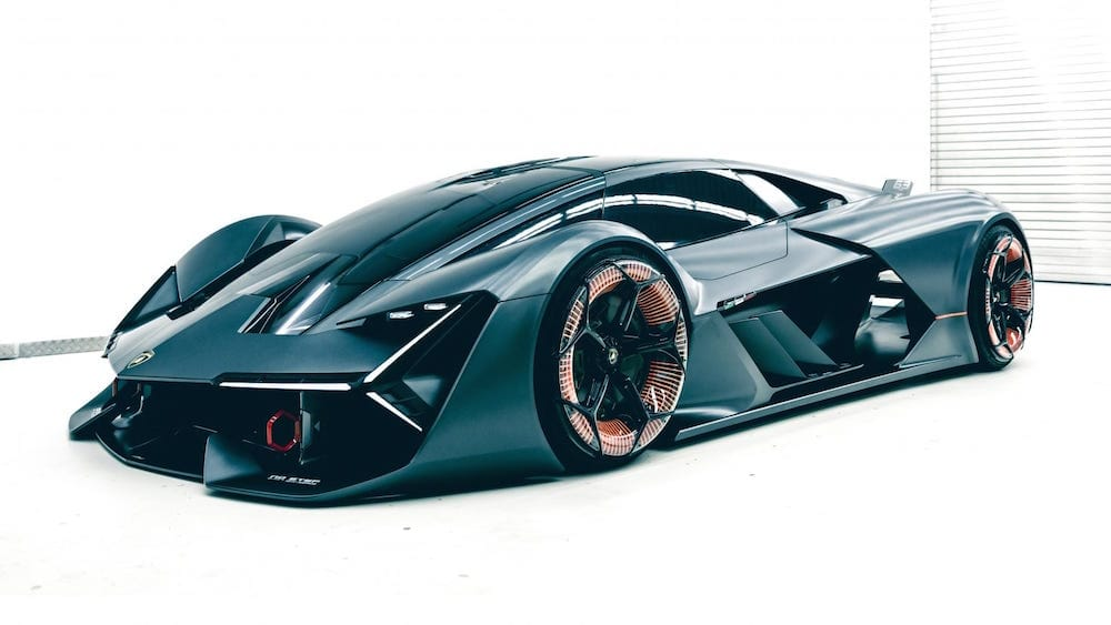 Lamborghini deportivo 100 % eléctrico