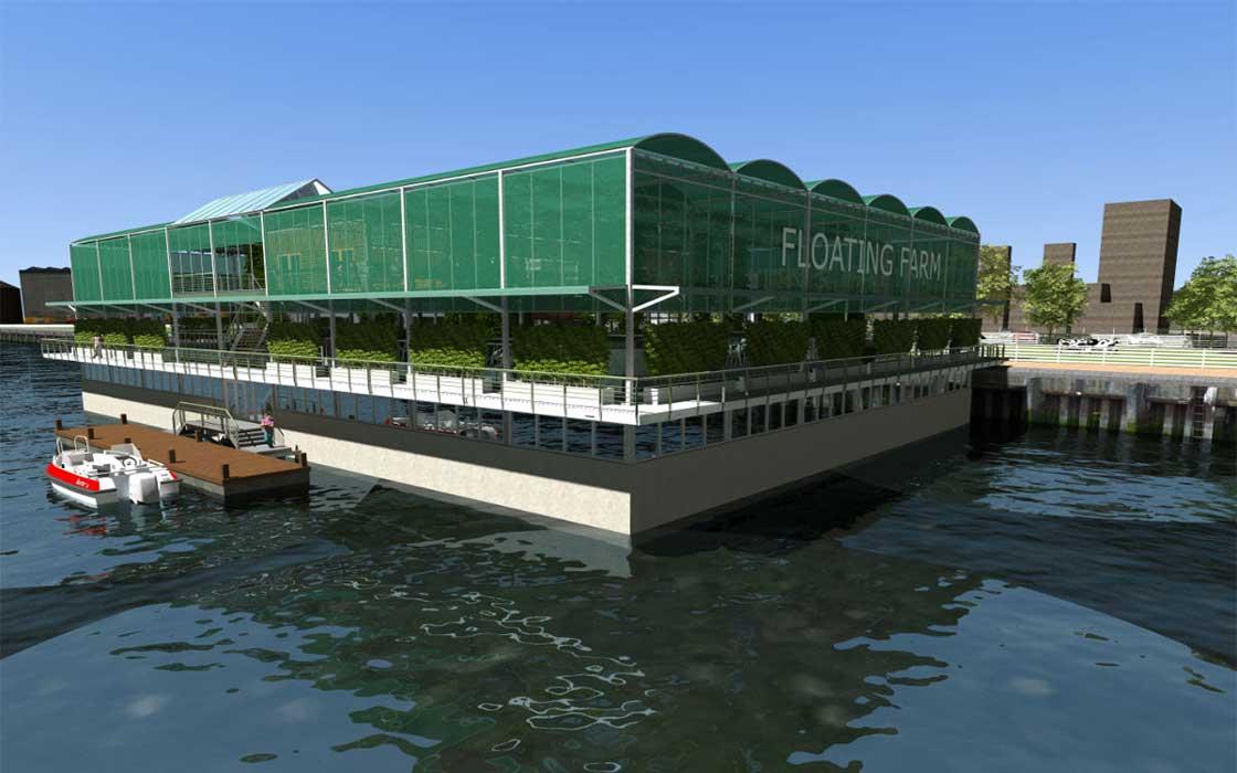 La primera granja urbana flotante del mundo se instalará en Rotterdam