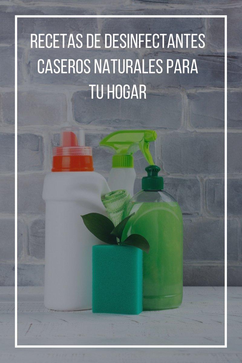 Recetas de desinfectantes caseros naturales para tu hogar