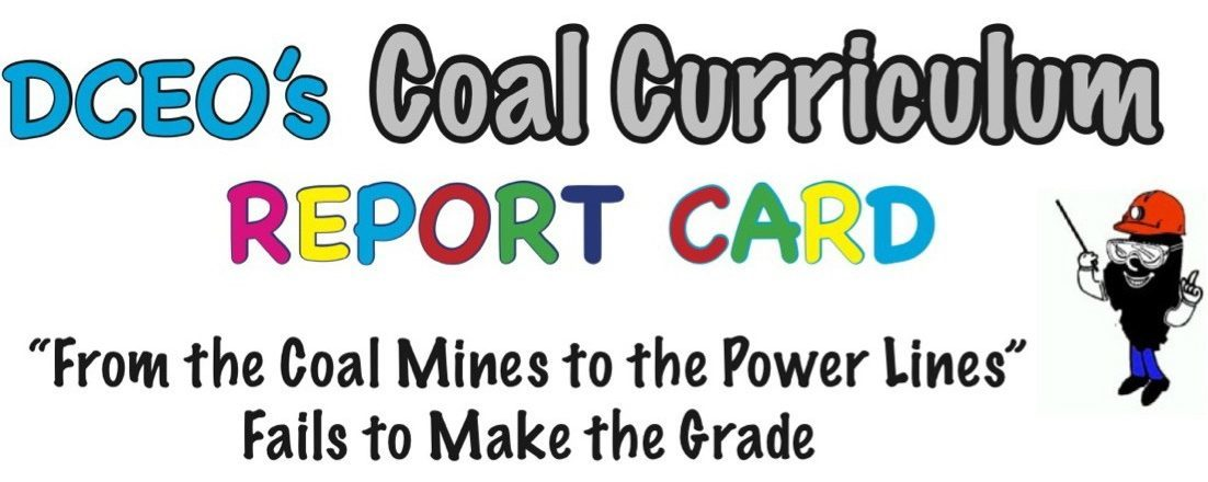 Illinois DCEO Coal Curriculum Fails to Make the Grade