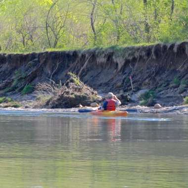 Plans for shoring up the bank with boulders and plant material have been approved by permitting agencies.   But the Old East Pit sits over mine voids, raising concerns over stabilization.