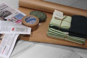Gaveindpakning af miljøvenlige materialer