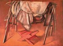 Cavalete com arreios e banquinho - 1976
