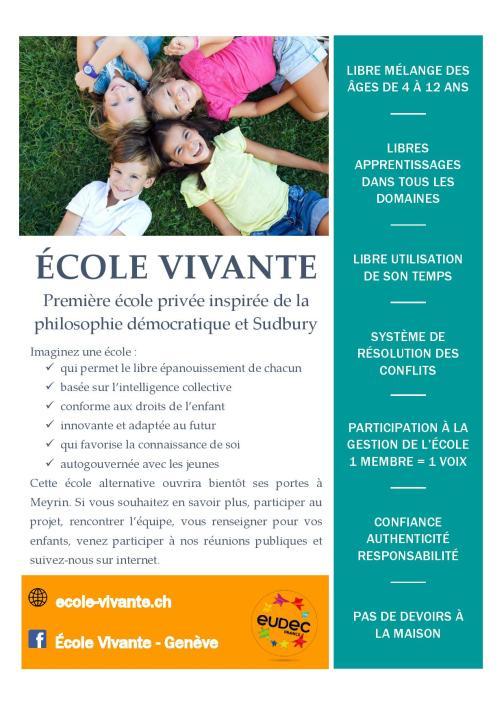 Flyer Ecole Vivante