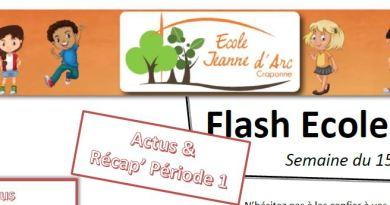 31/10/19 – Flash Ecole n°124 + Récap' de la période 1