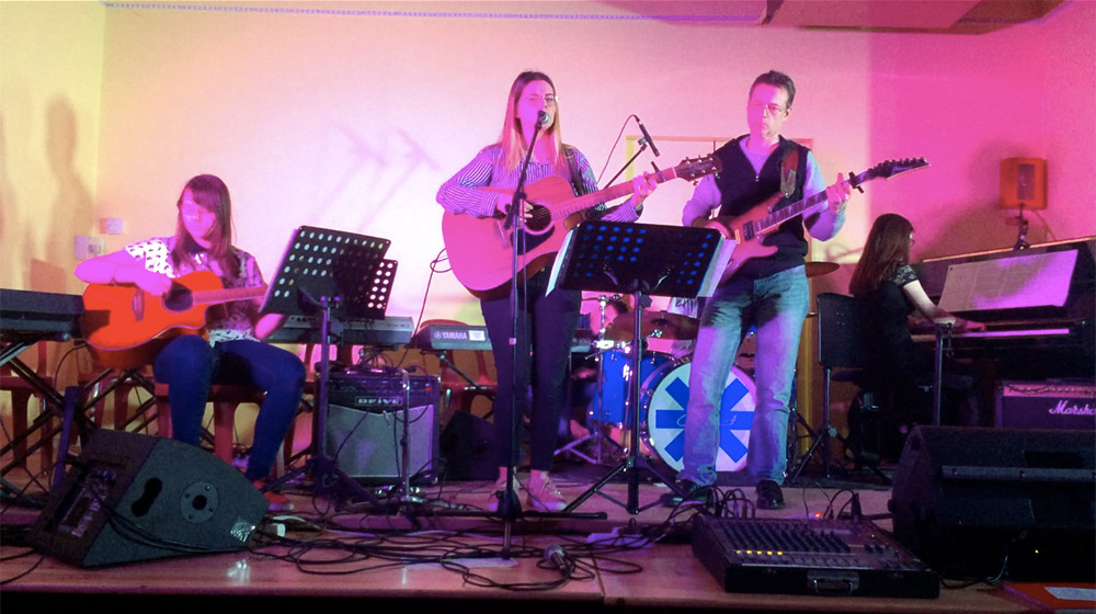 Lors du concert à Ciral en 2019