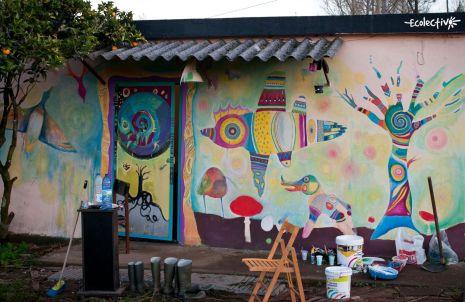 ecolectivo vigo mural en casa