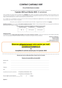 Contrat cartable vert janvier 2015