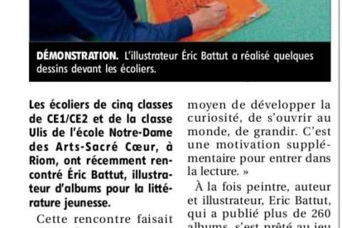 Eric Battut s'illustre à l'école…