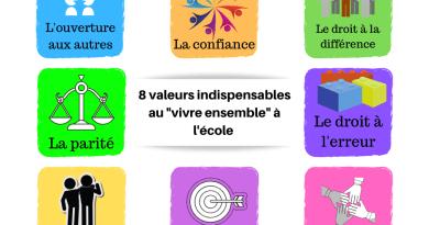 """8 valeurs indispensables au """"vivre ensemble"""" à l'école"""