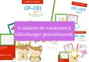6 cahiers de vacances à télécharger gratuitement pour les enfants (à partir du CP)