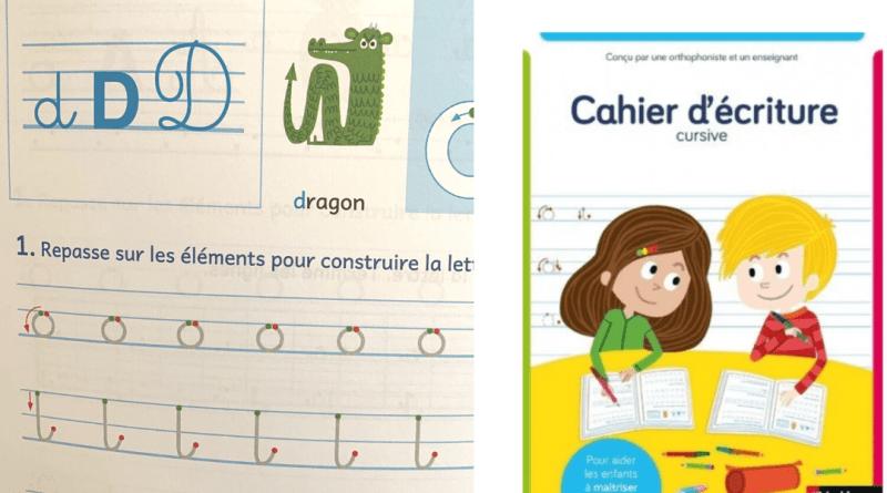 Un cahier d'écriture cursive pour aider les enfants à maitriser l'écriture