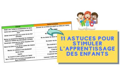 11 astuces pour stimuler l'apprentissage des enfants