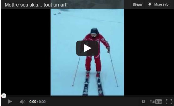 Mettre ses skis à la Verco style