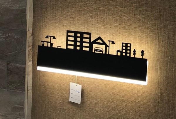 cityscape shaped led wall light at ecolight India