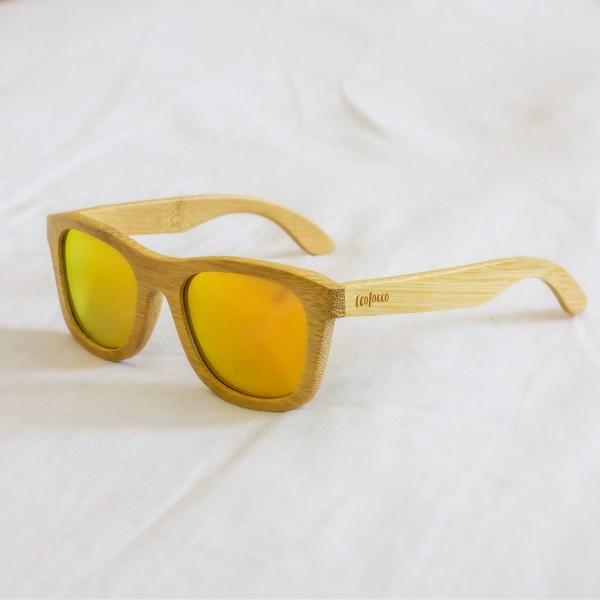 Bambusové slnečné okuliare oranžové