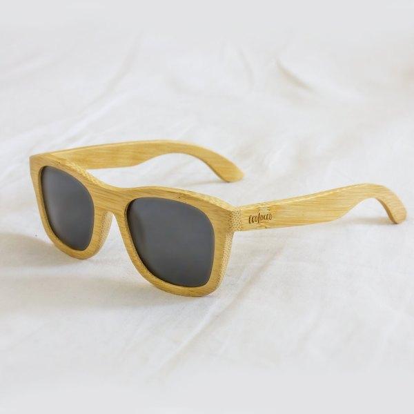 Bambusové slnečné okuliare čierne