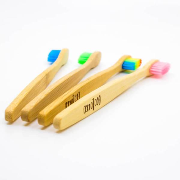 Bambusové zubné kefky 4ks | Funky Set