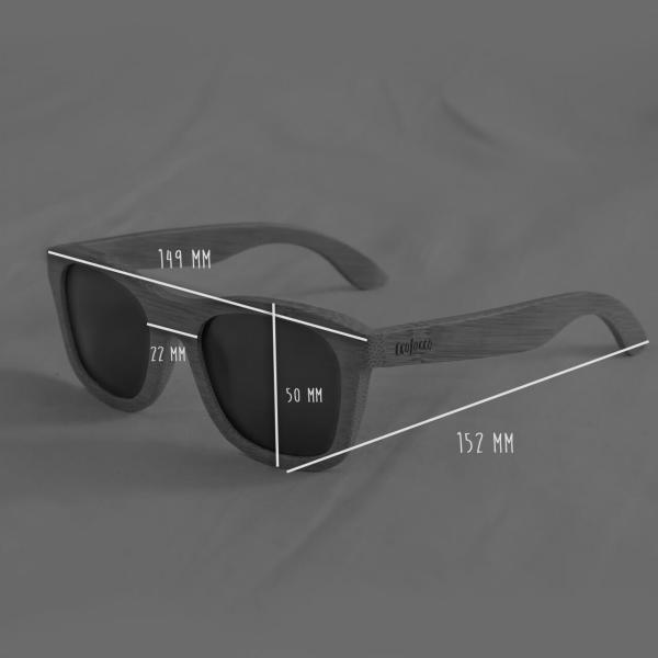 """Bambusové slnečné okuliare s polarizačnými sklami """"Sunrise"""""""