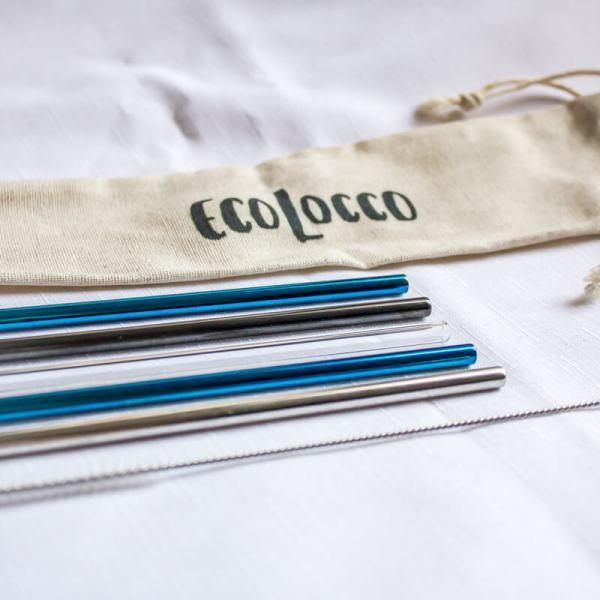 ZIMNÝ set eko slamiek – 5 slamiek s čistiacou kefkou a eko vrecúškom