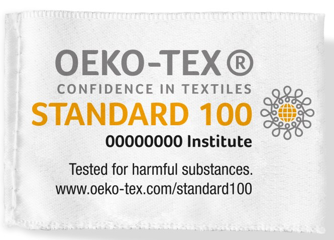 Example of the STANDARD 100 by OEKO-TEX® label