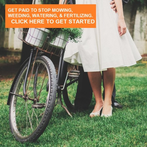 image: get paid to stop mowing, weeding, watering, and fertilizing CLICK HERE.
