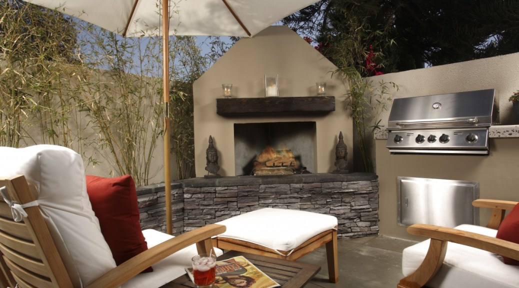 image: outdoor kitchens are popular among clients.