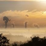Nuages de pollution de l'air atmosphérique