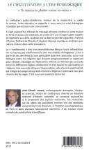 Christianisme à l'ére écologique 2013 verso