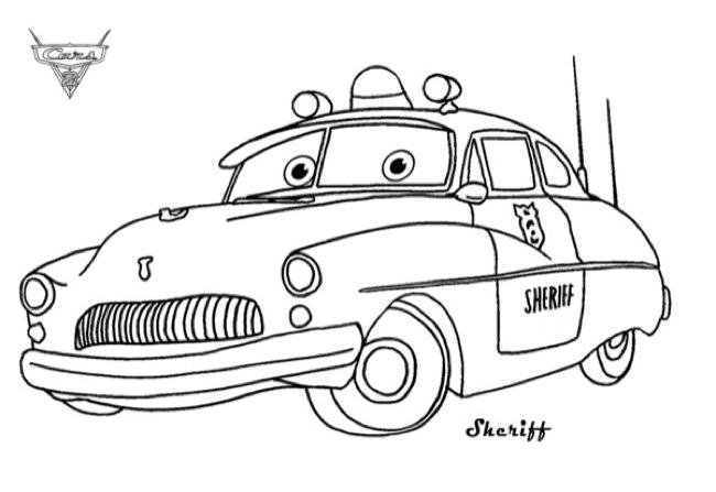 the sheriff pixar truck