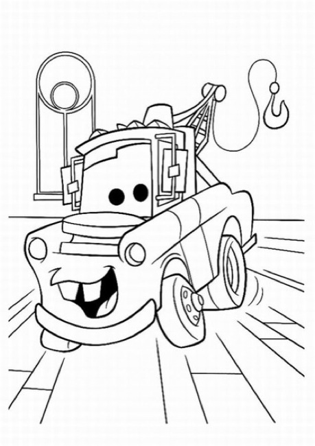 tow mater ecoloringpage com printable coloring pages
