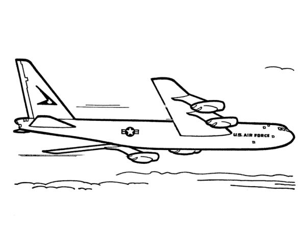 us air force military plane coloring page printable for
