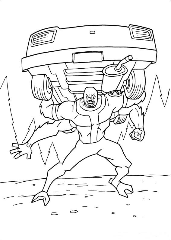 Heatblast Is Ready To Attack Coloring Page - Download & Print ...   794x567