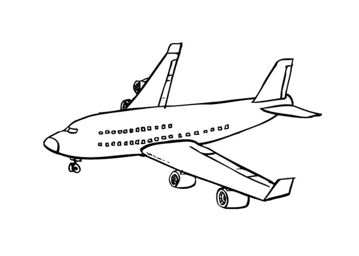 jumbo jet ecoloringpage com printable coloring pages