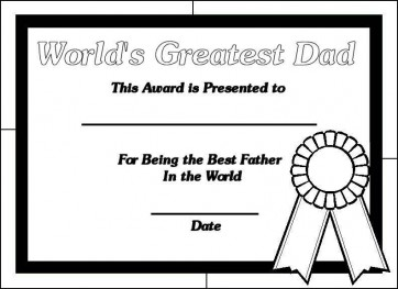 Happy Fathers Day Worlds Greatest Dad Coloring Page