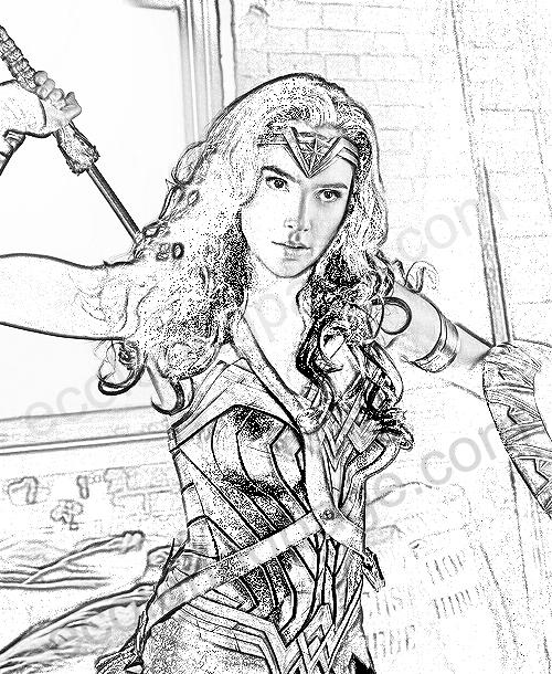 Wonder Woman Coloring Page
