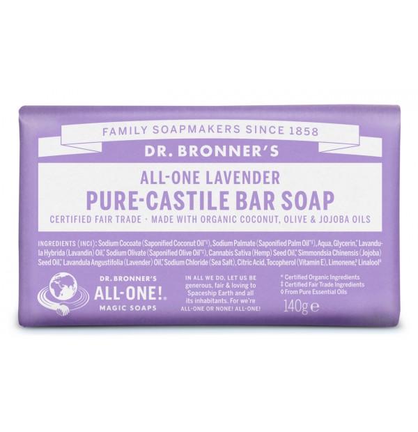 jabón de castilla en pastilla lavanda