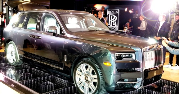 Rolls-Royce Pops the Moet at New Showroom & Debuts Cullinan