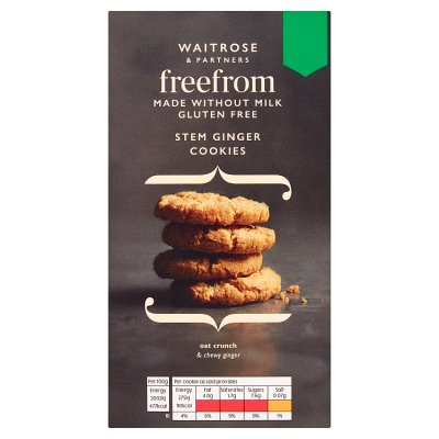 Waitrose Free From Stem Ginger Cookies