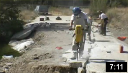 October 4th through November 28th, 2006 - This time lapse video shows the demolition and removal of the Texas Crossing in Malibu Creek State Park. Now Malibu Creek flows naturally through this area and fish have access to an additional mile of high quality habitat. NOTE: Click on image to see video.