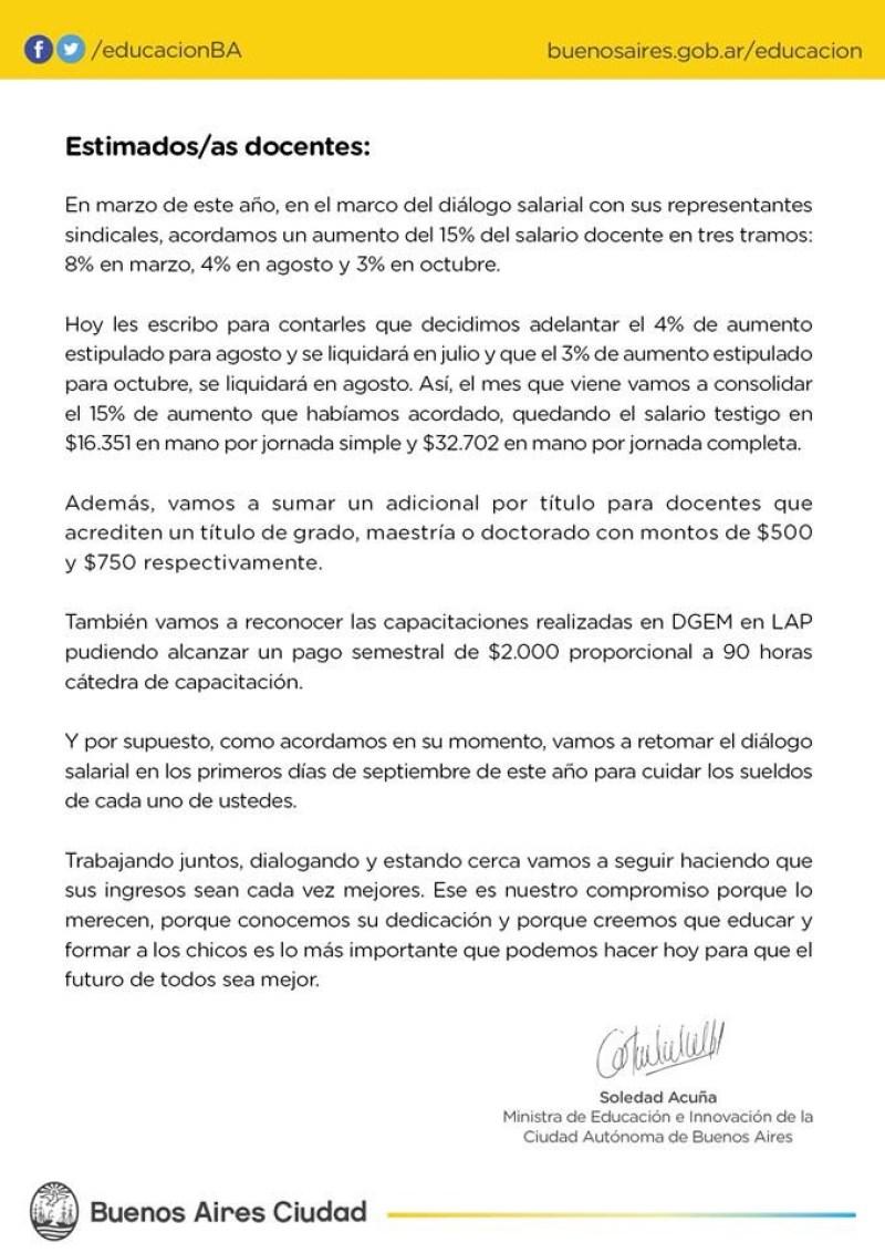 Soledad Acuña, Ministra de Educación de la Ciudad de Buenos Aires ...