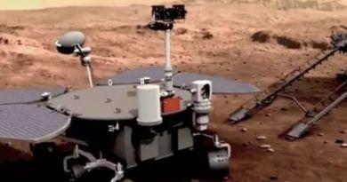 China logró posar sobre la superficie de Marte un robot teleguiado