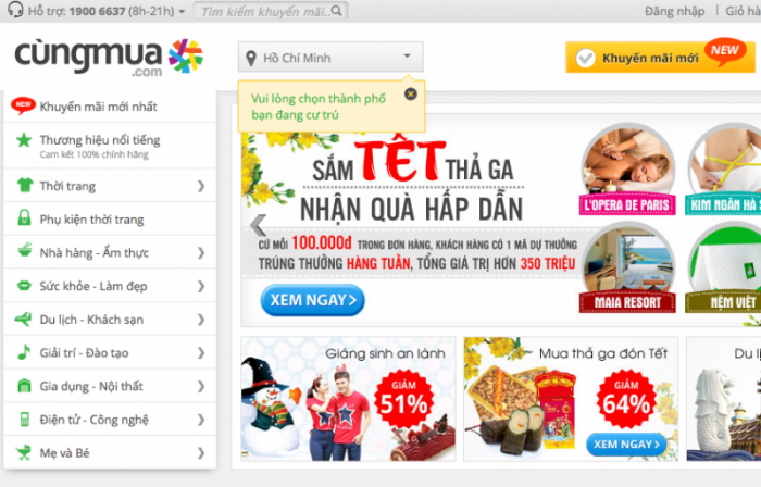 CungMua is already merged with NhomMua to become the largest group-buying site in Vietnam